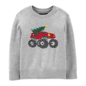 NWT OshKosh B'gosh Monster Truck Holiday Pullover
